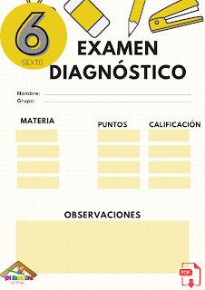 Examen diagnóstico sexto grado primaria pdf