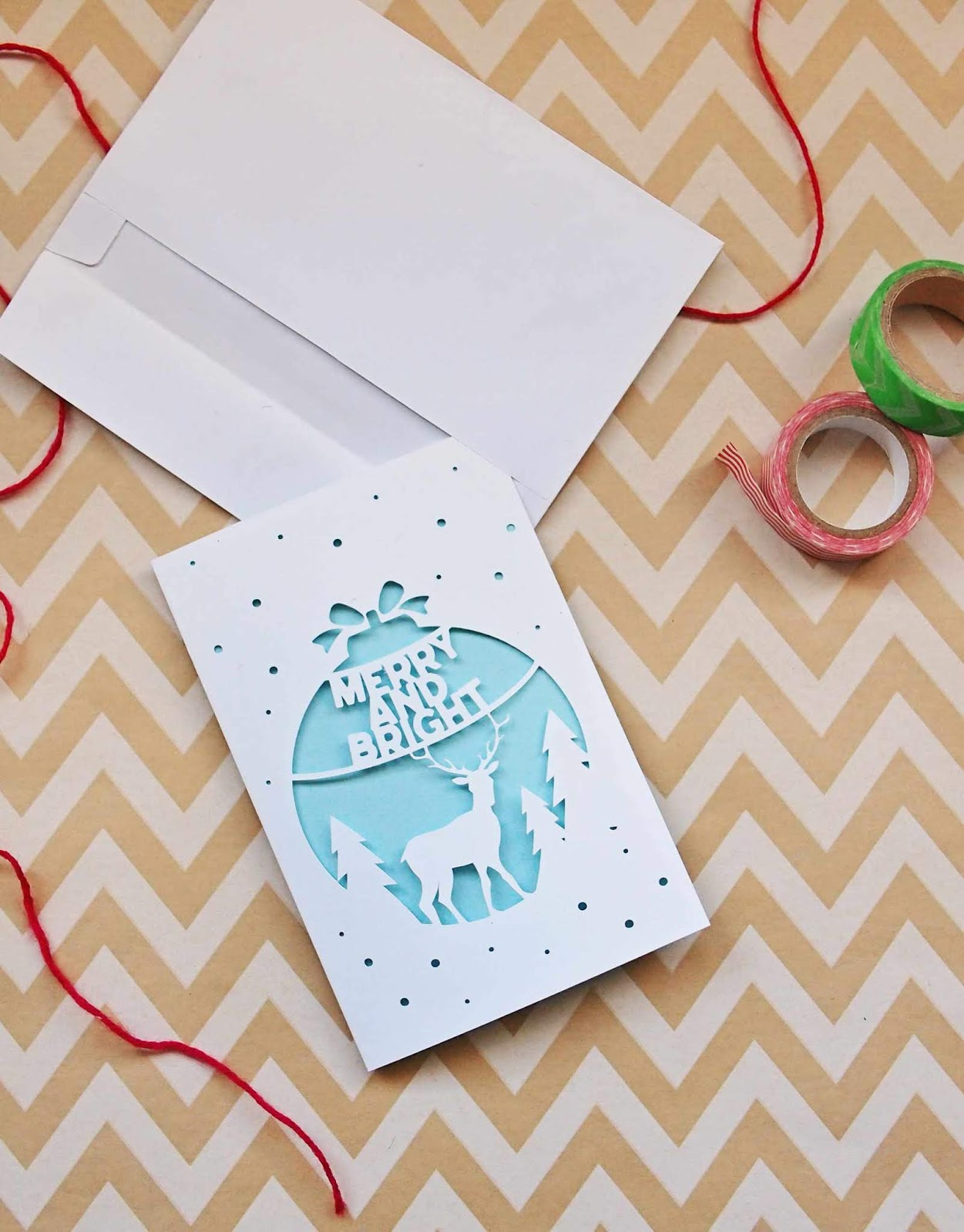 Make Your Own Christmas Cutout Cards! (Free Download)