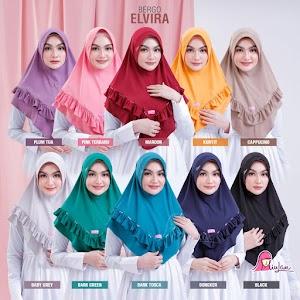 Elvira | Jilbab Instan Miulan Bergo Elvira Kerudung Cantik Miulan Hijab Terbaru