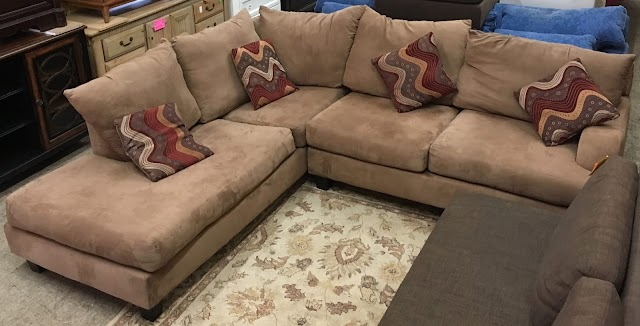 2 Piece Sectional with Accent Pillows - $295 SOLD