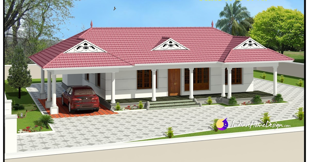 1320 Sqft Traditional Single Floor Kerala Home Design Indian Home Design Free House Plans