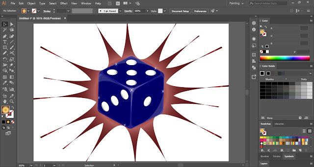 Vector Dice in Adobe Illustrator