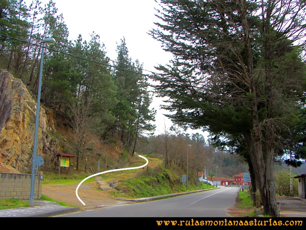 Rutas Montaña Asturias: Inicio de ruta en Peñaflor