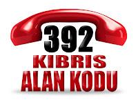 0392 Kıbrıs telefon alan kodu
