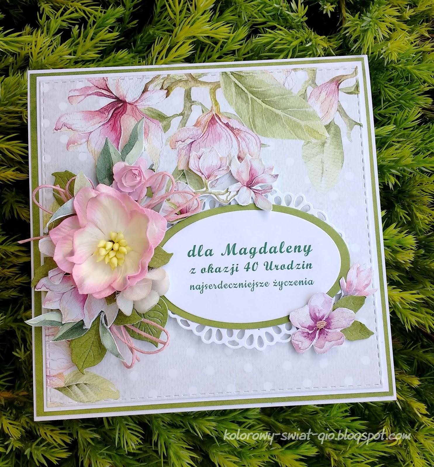 Gio Blog Z Kwiatami Na 40 Urodziny