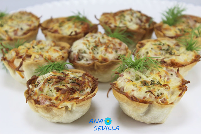 Cestitas sabor pizza Ana Sevilla con Thermomix