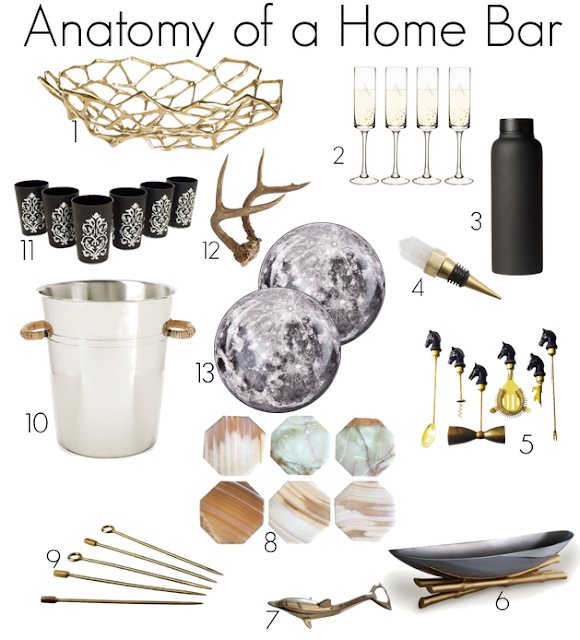 accessories to style a home bar