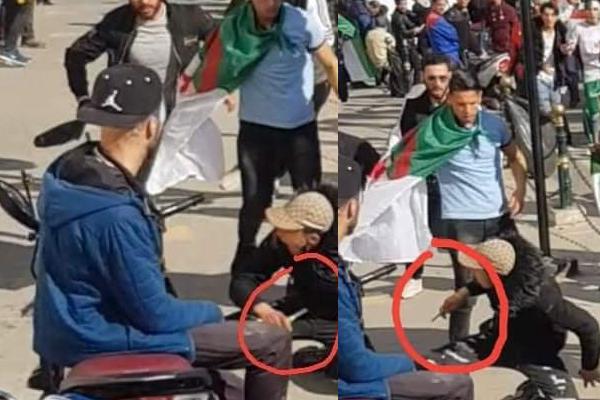 بالفيديو .. شباب يلاحقون منحرف  حاول الإعتداء على المتظاهرين بالعاصمة