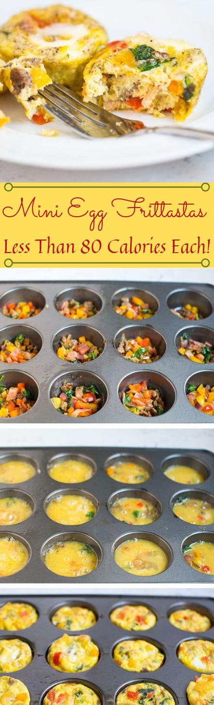 MINI EGG FRITTATAS #egg #dinner #food #healthyeat #recipes