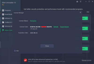 IObit Uninstaller 10 Pro Free License key