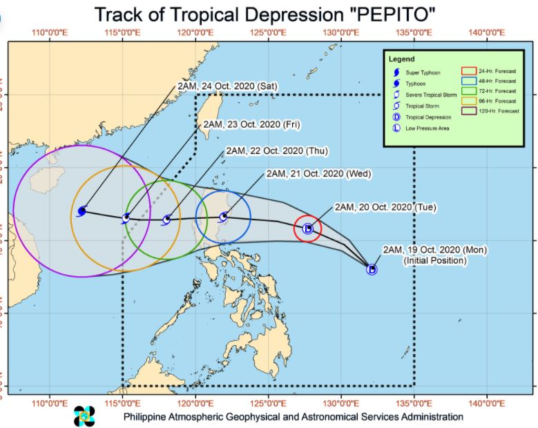 'Bagyong Pepito' PAGASA weather update October 19, 2020