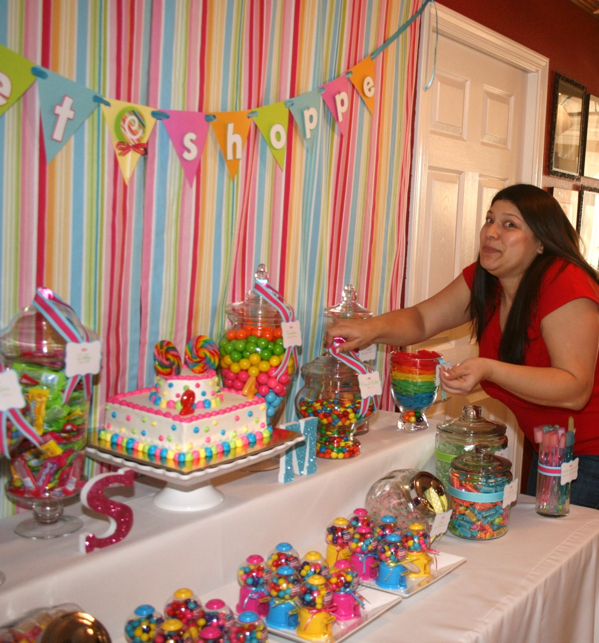 Birthday Party Buffet Table: My Two Cupcakes: Sienna & Mateo's Candyland Birthday Party