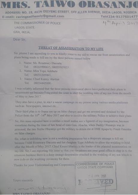 obasanjo is planning to kill me � obj�s wife taiwo