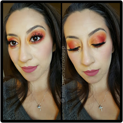 Coastal Scents Hot Pots Eye look using different colors