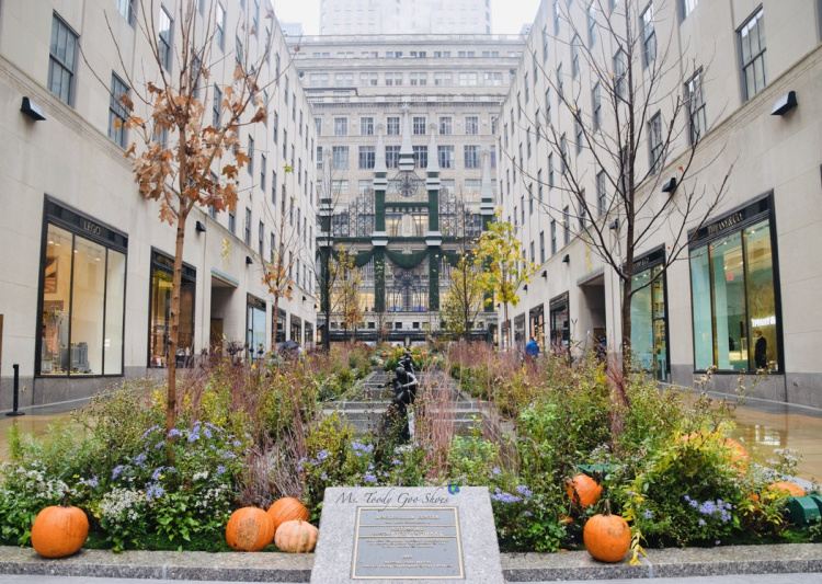 The Channel Gardens at Rockefeller Center in NYC, are beautiful no matter the season. | Ms. Toody Goo Shoes