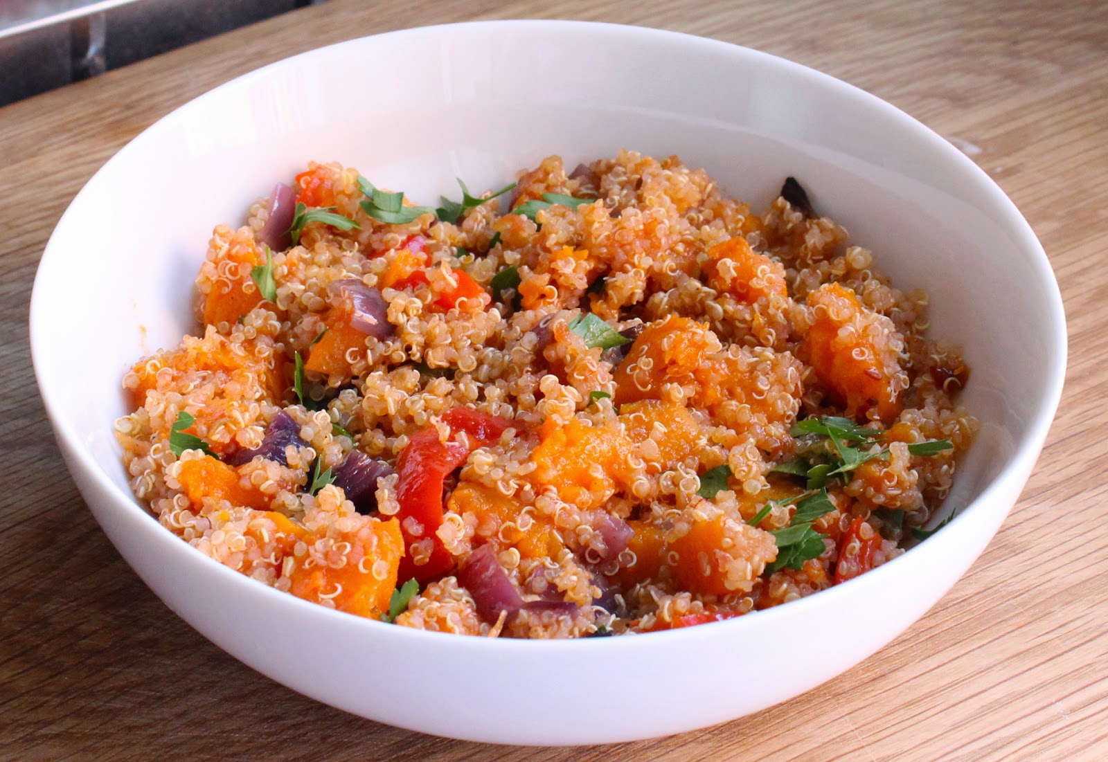 Quinoa with Roasted Butternut