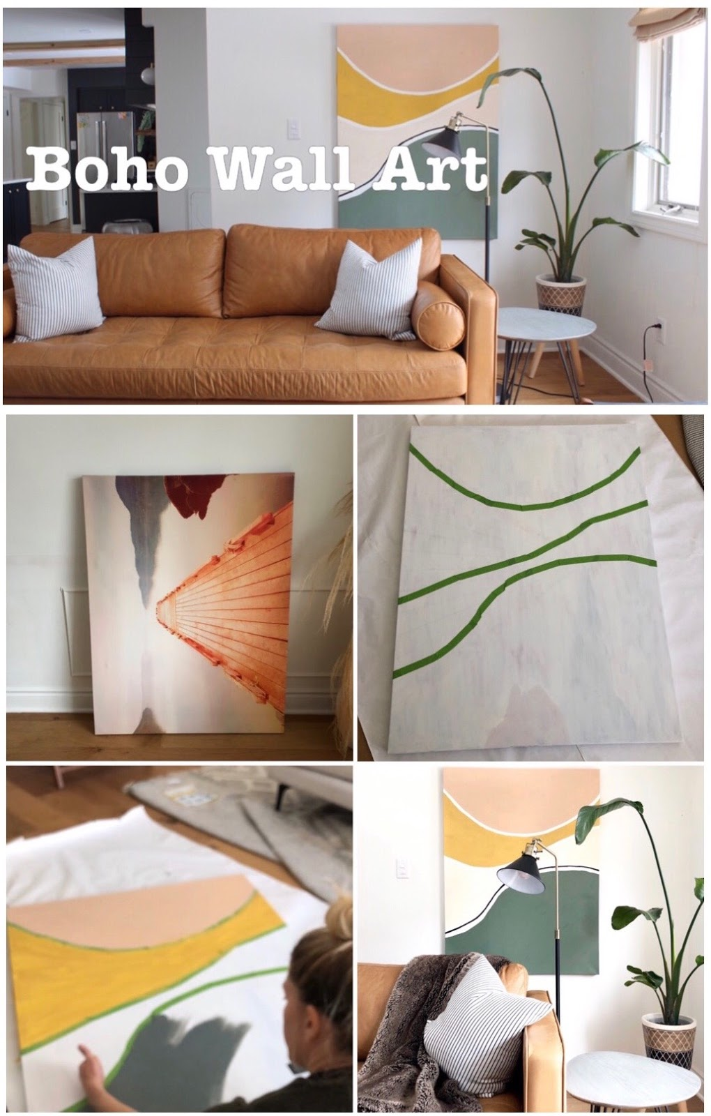 Mid Century Modern Abstract Canvas Painting Ideas