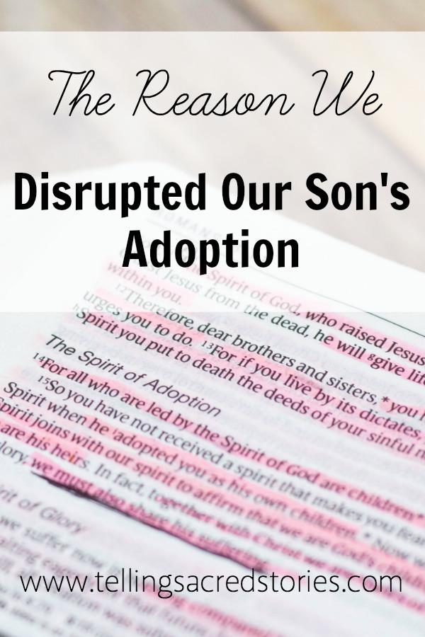 Disrupting Adoption God's Faithfulness
