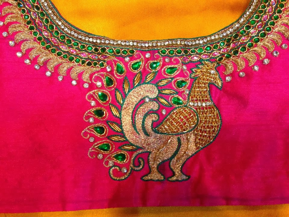 Sparkling Fashion Latest Maggam Work Designs For Saree