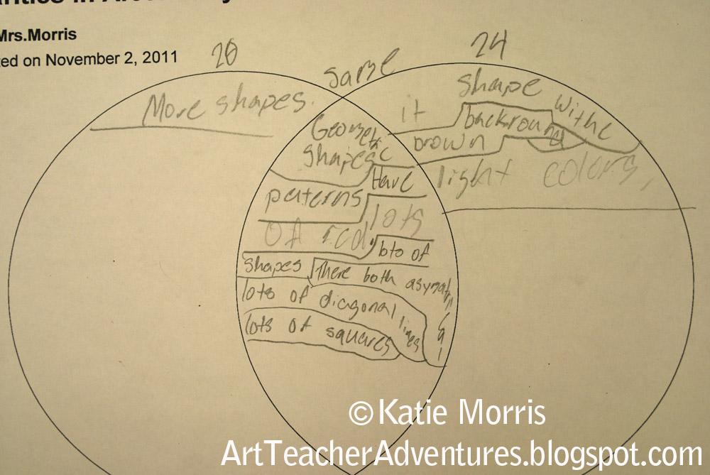 Adventures Of An Art Teacher  5th Grade Venn Diagram Projects