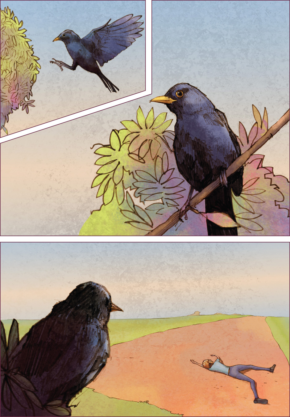 Lian Webcomic, The Tree of Life, chapter 2. Ousel the blackbird