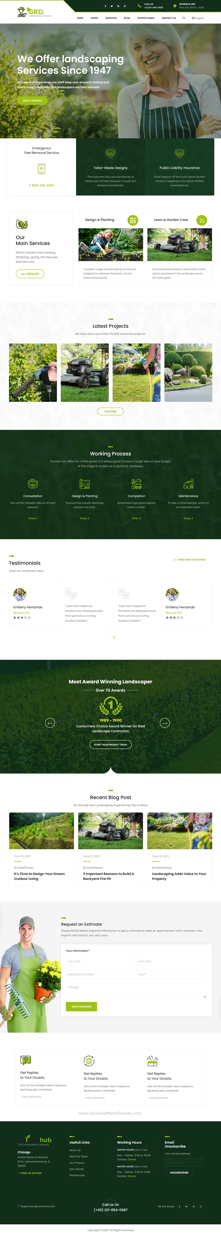 GRD - Lawn & Landscaping HubSpot Theme