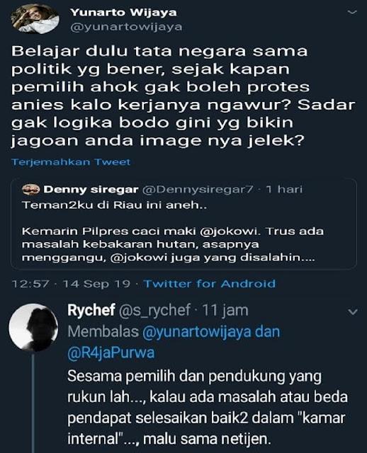 """Ketika Denny Siregar Ditampol """"Kawannya"""" Sendiri, Netizen: Disaat cebong sekolam bertengkar!! Seru"""