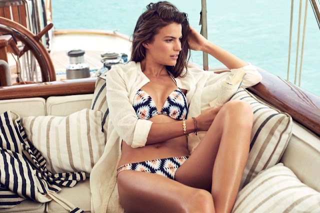 Cameron Russell sizzles for the H&M Bikinis Summer 2016 Lookbook