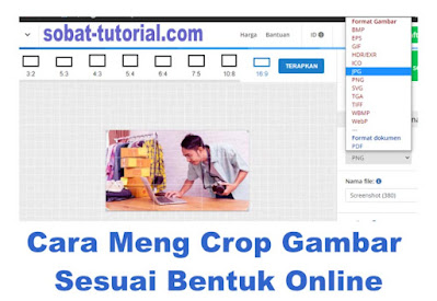 Cara Meng Crop Gambar Sesuai Bentuk Online
