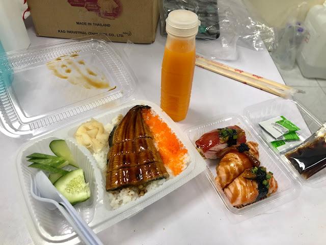 ข้าวหน้าปลาไหล และซูชิ ร้านซูชิคำโตโต สาขาปัตตานี