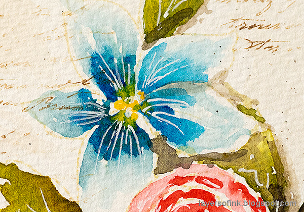 Layers of ink - Watercolor Florals Tutorial by Anna-Karin Evaldsson.