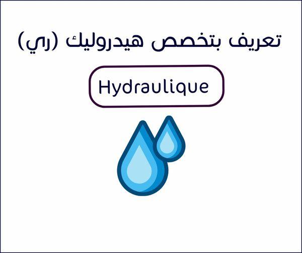تعريف بتخصص هيدروليك ري بالجزائر