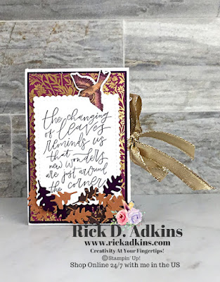 Fall Mini Album using the products from the Beauty of Tomorrow Suite from Stampin' Up! Click here to learn how I made it!