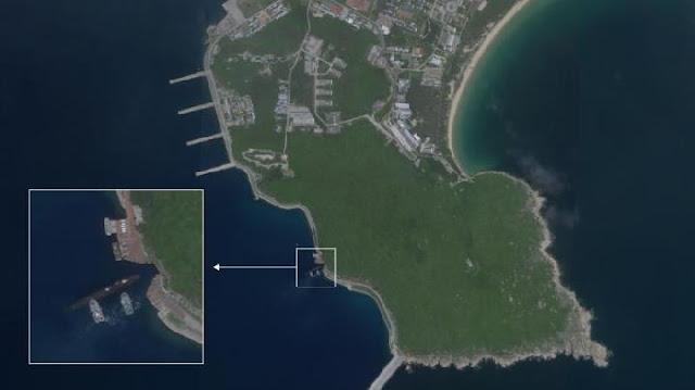 Terekam, Kapal Selam Nuklir Cina di Pangkalan Bawah Tanah di Laut Cina Selatan