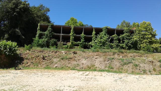 Edifício coberto de verdejante