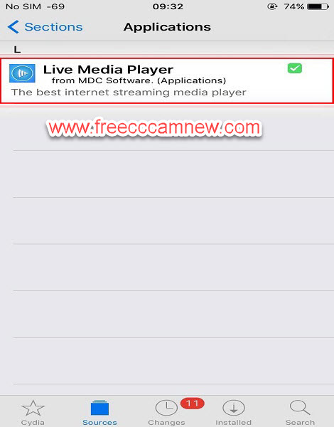 تطبيق LIVE STREAM PLAYER لاندرويد وايفون وايباد