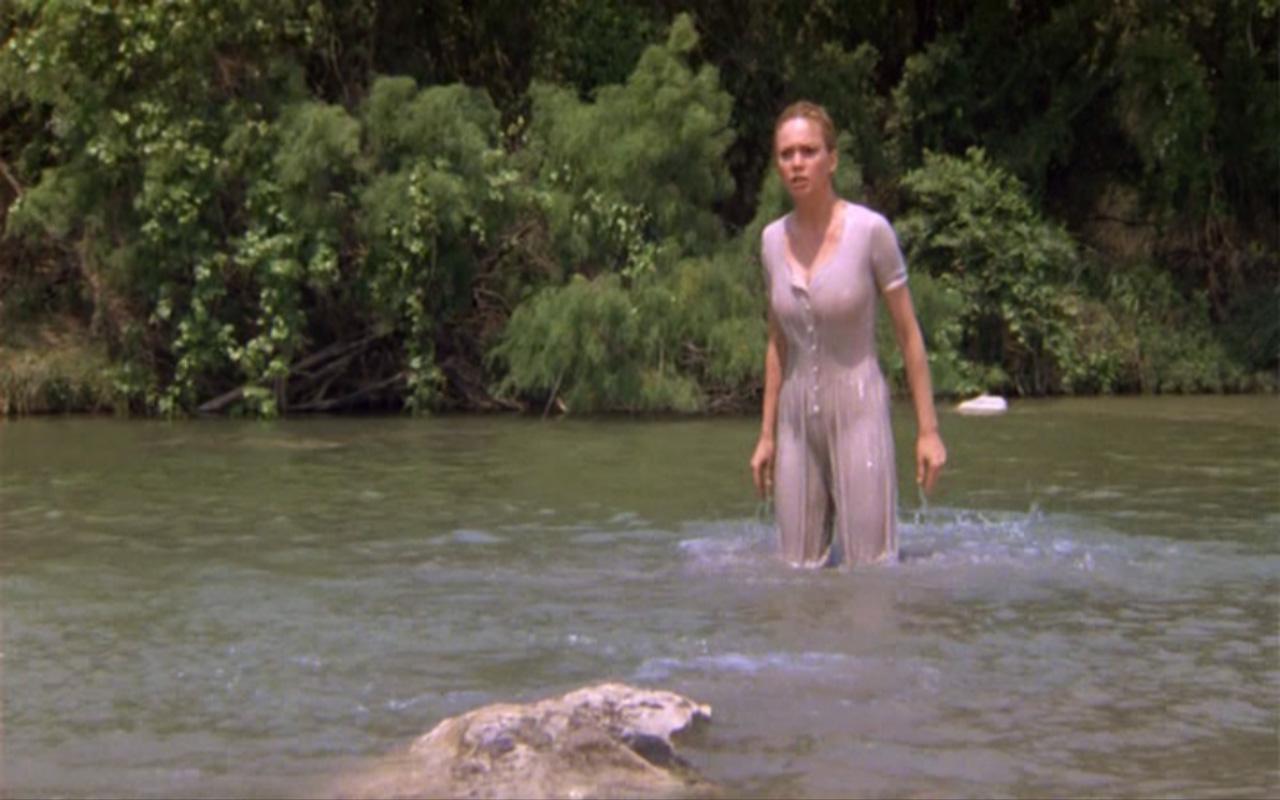 Women Bathing Nude In River