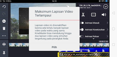 Maksimum Lapisan Video Terlapaui