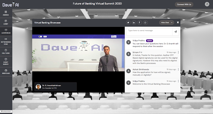 BFSI Leaders discuss autonomous banking possibilities in the virtual summit 'Future of Banking', organized by DaveAI in partnership with Intel.