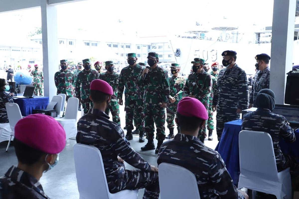Panglima TNI: 130.000 Prajurit TNI Jalani Vaksinasi Covid-19 AstraZeneca