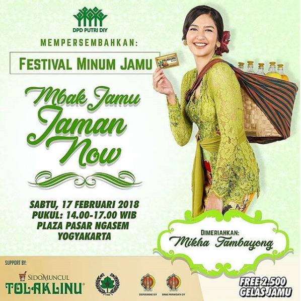 Festival Minum Jamu 2018 Yogyakarta, Minum Jamu Gratis Yuk !