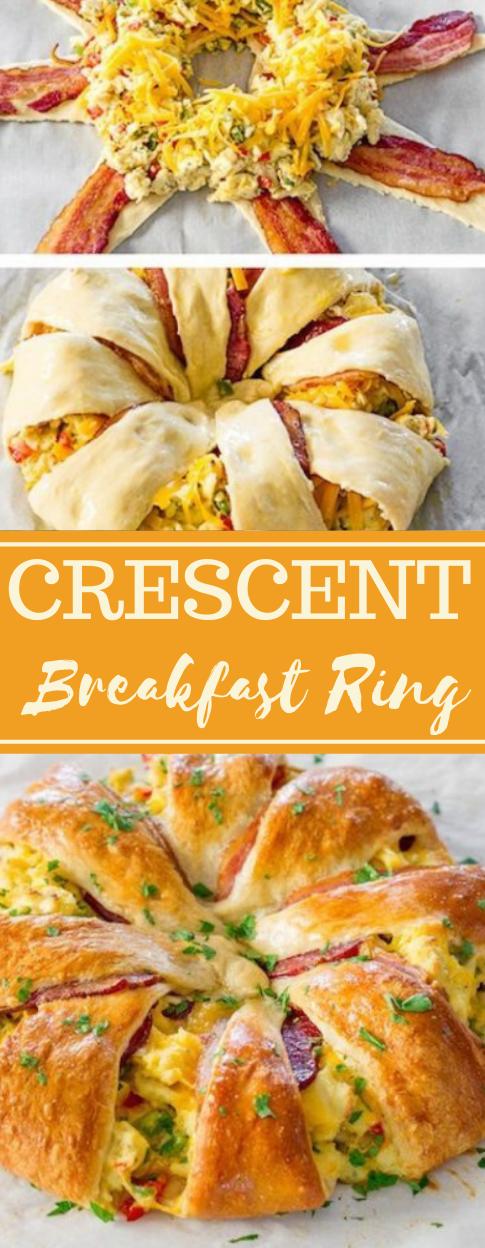 CRESCENT BACON BREAKFAST RING #bacon #eat #breakfast #vegetarian #easy