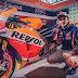 Marc Marquez se concentra para Silverstone