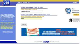 Pembayaran bpjs online melalui klik bca individu