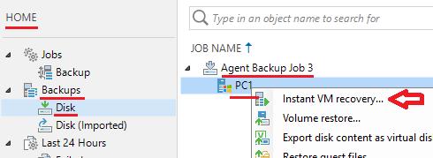 Veeam Backup: P2V: Veeam Agent a ESXi