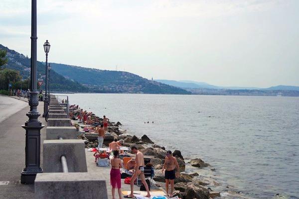 italie trieste grignano plage