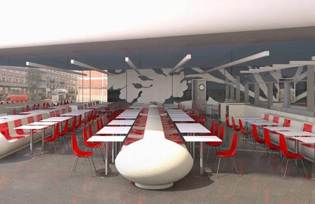 Restaurante no Museu Stedelijk em Amsterdã