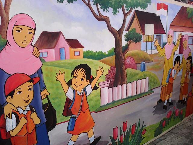 Mural Sekolah Taman Kanak-Kanak
