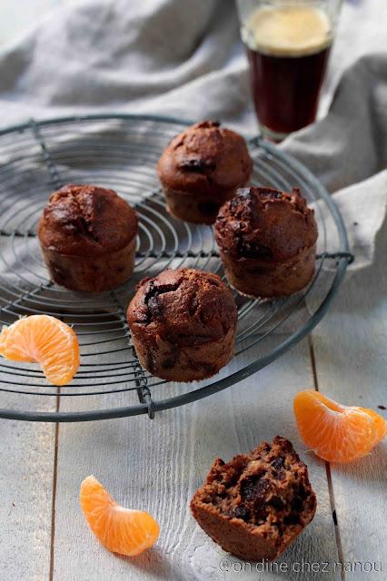 okara , noix , chocolat , mandarines , cakes moelleux , sans blé , sans lactose