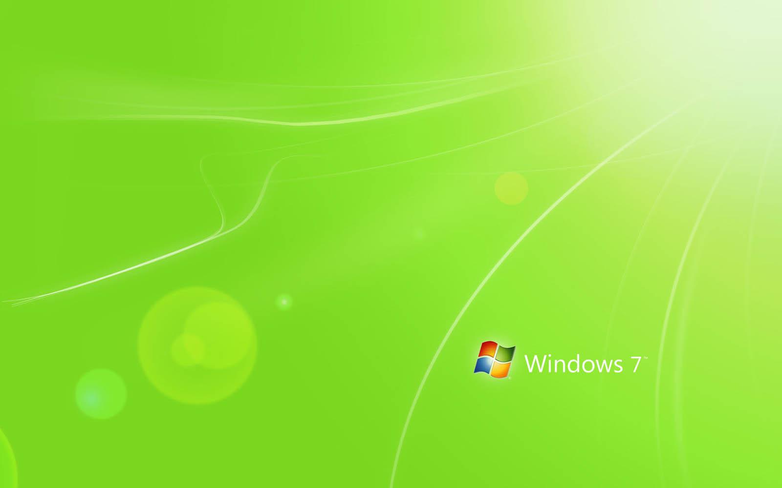 Wallpapers green windows 7 wallpapers - Fondos de escritorio para windows 7 gratis ...